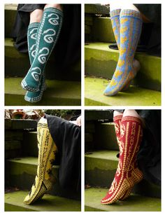Hogwarts house socks. It makes me happy that the Ravenclaw ones have a bronze ish colour and not silver