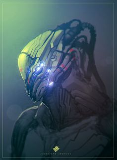 Cyberpunk Art, Cyborg, Future, Helmet, Robot Head Concept by ~streetX222 on deviantART