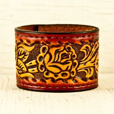 Upcycled Leather Wrist Cuff