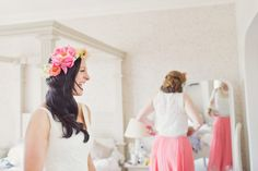 Bride to be at the Bell Hotel in Sandwich