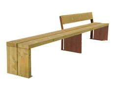Public bench / contemporary / sheet steel / in wood GAVARRES Benito
