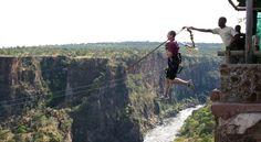 bunji jumping , victoria falls , zimbabwe