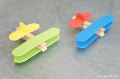 April 2015 Kid Craft Club - Clothespin Airplanes