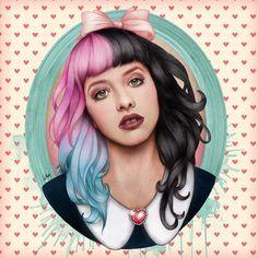 Melanie Martinez Fan Art by Will Costa Dollhouse Melanie, Cry Baby, Mel Martinez, Harley Quinn, Melanie Martinez Drawings, Marina And The Diamonds, Crazy People, Celebs, Celebrities