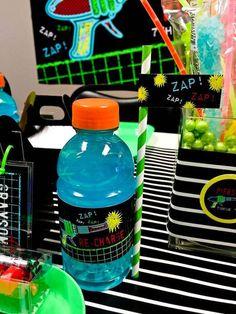 Drink from a Laser Tag Birthday Party via Kara's Party Ideas | KarasPartyIdeas.com (8)