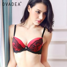a07f00ac8a US  10.68 OVADEA Women S Embroidery Lace Sexy Bra Set Floral Push Up Padded  Lingerie Adjustable Breathable