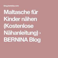 Maltasche für Kinder nähen (Kostenlose Nähanleitung) › BERNINA Blog