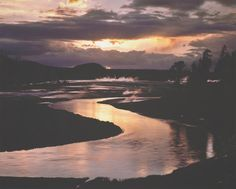 DAVID MUENCH  b. 1936 Firehole River & Sunset Date:1985