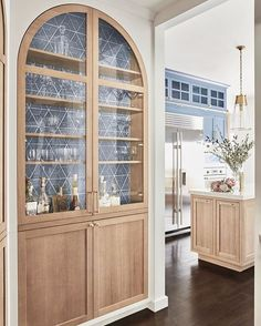 Built In Hutch, Built In Bar, Built Ins, Amazing Spaces, Beautiful Kitchens, Interiores Design, Home Kitchens, Farmhouse Kitchens, Dream Kitchens