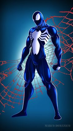 Symbiote Spiderman by albundyland on DeviantArt Spiderman Black Suit, Spiderman Poster, Black Spiderman, Spiderman Art, Amazing Spiderman, Marvel Comics, Marvel Vs, Marvel Heroes, Captain Marvel
