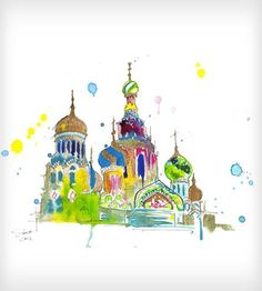 A Little Slice Of Russia Watercolor Print by Jessica Durrant on Scoutmob Shoppe-WOW