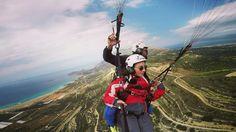 Paragliding crete flight falasarna beach