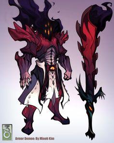Demon Armor Concept by MinohKim on DeviantArt