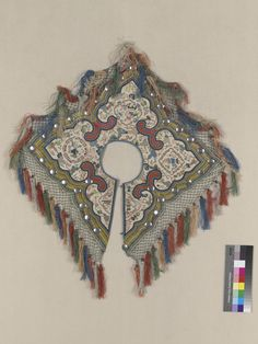 CAPE OF MANDARIN  ASIAN ETHNOGRAPHIC COLLECTION  Catalog No: 70 / 1704   Culture: CHINESE  Country: CHINA  Technique: EMBROIDERY  Acquisition Year: 1900 (GIFT)   Donor: DOREMUS