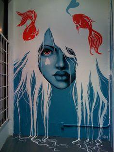 Street art. Urban art. Modern art. Murals. Graffiti.
