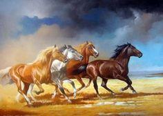 cavalos - Pesquisa Google Beautiful Horse Pictures, Beautiful Horses, Pretty Horses, Horse Love, Horse Drawings, Animal Drawings, Edward Moran, Cavalo Wallpaper, Arte Equina