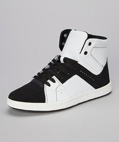 reputable site 4e2a7 4b655 This White Black London Hi-Top Sneaker is perfect!  zulilyfinds Herrskor