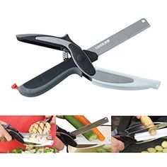 Cuisine Et Maison · 2 En 1 Alimentaire Chopper Cutter , Légume Fruit  Chopper Ciseaux Couteau Et Une Planche à