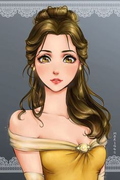 Princesas Disney em estilo Anime - Just Lia Anime Princesse Disney, Princesses Disney Belle, Belle Disney, Disney Princess Drawings, Disney Princess Art, Disney Girls, Disney Drawings, Disney Disney, Twisted Princesses