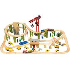 Construction Train Set / 116 Pieces - Bigjigs Toys Ltd
