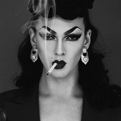 Violet Chachki, Winner of RuPaul's Drag Race season rocks S&M attitude! Photo by Styled by Drag Queen Makeup, Drag Makeup, Rupaul Drag Queen, Violet Chachki, Drag Queens, Photoshop, Mode Inspiration, Fashion Inspiration, Rockabilly