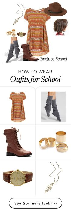 """""""Back to School With Style"""" by eveymeg on Polyvore featuring Kate Spade, Topshop, Sole Society, maurices and H&M"""