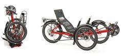 Gekko fx, foldable allround trike by HP Velotechnik with BionX E-Motor