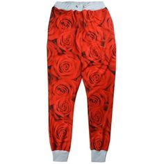 Unisex Emoji Sweatpants Jogger red rose floral Jordan jogging Trousers... ($35) ❤ liked on Polyvore featuring activewear, activewear pants, bottoms, red sweatpants, jogger sweatpants, red jogger sweatpants, red sweat pants and sweat pants