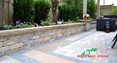 #Outdoor #Garden #Wall: Best Way Stone > Wall: Antico Stacker (Beige Mix)