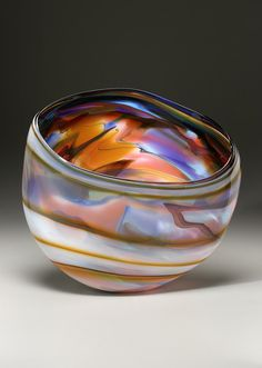 Autumn Storm Pod by Goldhagen Studios. American Made. See the artist's work at the 2014 Buyers Market of American Craft, Philadelphia, PA. January 18-21, 2014. americanmadeshow.com #glass, #glassart, #americanmade