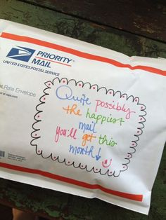 Pretty mail! I hope it comes to me... isn't this the cutest?!