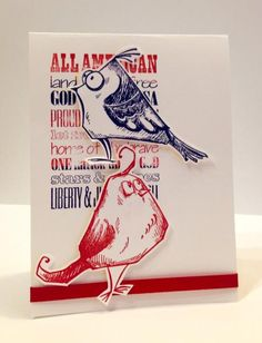 Patriotic Crazy Birds... by Luv Flowers - Cards and Paper Crafts at Splitcoaststampers