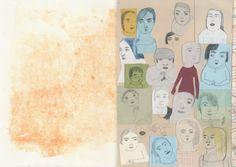 Chiara Carrer Artist Sketchbook, Sketchbook Pages, Art Drawings Sketches, Scribble, Masters, Illustrators, Journaling, Composition, Characters