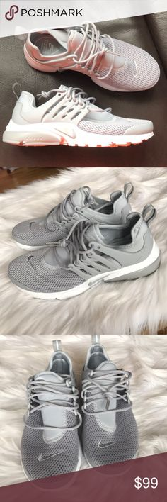 Nike Air Presto Sneakers Woman's Nike Air Presto Sneakers Style: 878068-006 Wolf grey and white New with original box, no lid Size 8 - price is firm! Nike Shoes Sneakers
