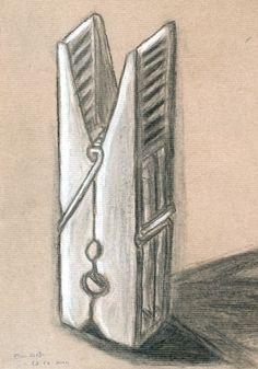 Élcio Djata. Carvão e pastel branco s/ papel kraft, 42 x 29,7 cm
