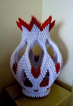 Bildergebnis für 3 d origami Easy Origami Flower, Kids Origami, Useful Origami, Origami Animals, Origami And Quilling, Origami And Kirigami, Origami Paper, Origami Dragon, Craft Ideas