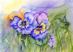 Aquarelle - Blumen - fillesansnoms Webseite!