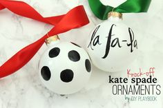 Knock-off Kate Spade DIY Ornaments - DIY Playbook
