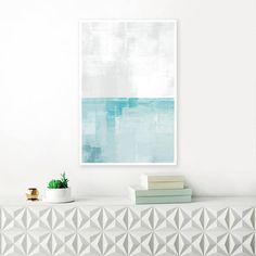 Blue and Grey Abstract Art Blue Acrylic Painting Blue Art