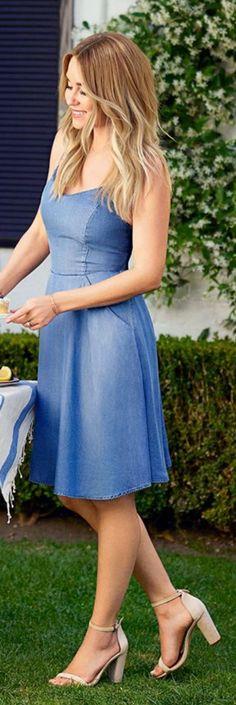 Who made  Lauren Conrad's blue dress?