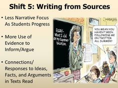 NYS Common Core Standards - ELA Shift 5: Writing from Sources