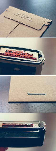 Custom rubber stamps, via Wit & Whistle