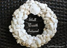 How to use up all of your shells from the beach trip! These shells were found on the Gulf of Mexico and bleached. Read to find out the DIY tips!