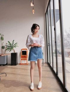 78 Cute Hipster Outfits for Girls That Will Fascinate You Korean Summer Outfits, Korean Casual Outfits, Cute Hipster Outfits, Korean Outfit Street Styles, Korean Fashion Casual, Korean Girl Fashion, Korean Fashion Trends, Korea Fashion, Kpop Fashion