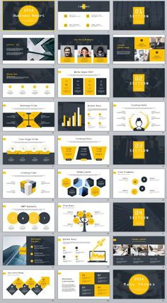 27+ yellow Business Year plan PowerPoint Template