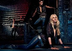 Janis Ancens & Myles Crosby Join Lara Stone for Calvin Klein Jeans FW 12  #attitudemodels #CK