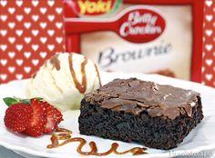 Provando o Brownie Betty Crocker