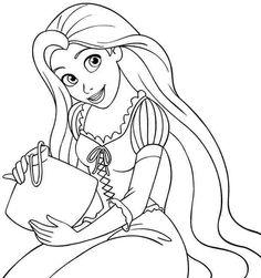 disney princess rapunzel colouring pages free printable for kindergarten 55949