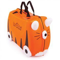 La valise Tigre Tipu par Trunki est pratique, fiable et ludique et permettra à votre enfant de participer activement au voyage tout en s'amusant !