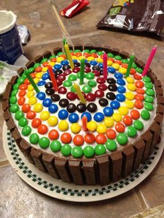 my sisters tenth birthday cake two layers of funfetti frosting surrounded by kit - Birthday Cake Decorations